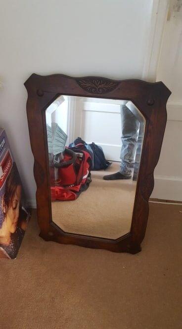 Solid Wood Antique Mirror In Northfleet Kent Gumtree