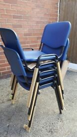 ISO Stackable blue reception chairs for sale