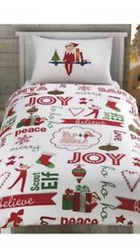 Elf on the shelf single quilt cover with pillow case