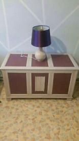 storage box + table lamp