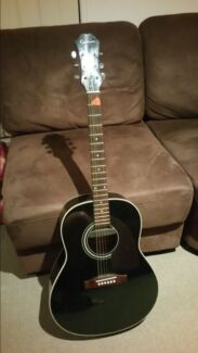 Epiphone black acoustic guitar  Loganlea Logan Area Preview