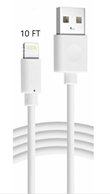 10FT Long USB Cable For Apple iPhone5 6 7 8Plus X Xs Max Xr