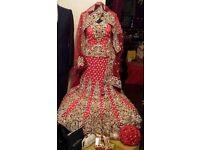 Red wedding lengha