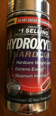Hydroxycut Hardcore Fat Burn Weight Loss Extreme Energy Supplement 60 Capsules