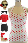 Polka Dot Halter Casual Tops & Blouses for Women