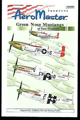 Aeromaster Green Nose Mustangs East Wretham Part 1 Decals Tamiya 1/48 AN48634