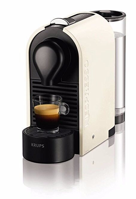 brand new Krups Nespresso Coffee Machine plus a variety pack of 16 coffee pods.