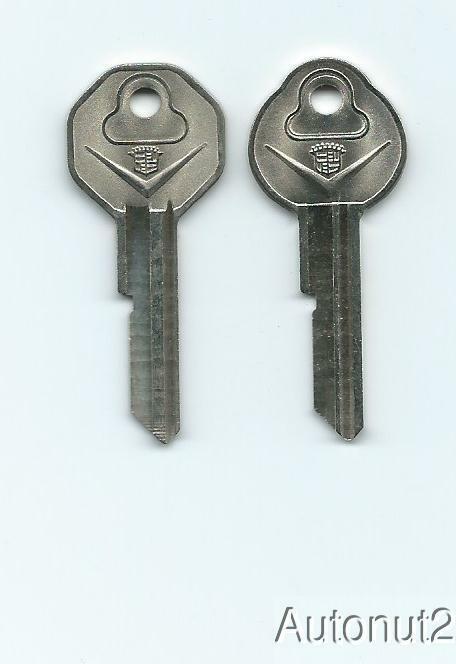 1967 CADILLAC Key Blanks  2 key set  NOS original 1966