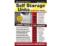 For rent - SELF STORE STORAGE - New facility - Lowest prices in the Country - Greenock town centre
