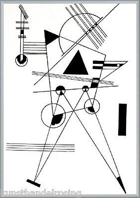 Kandinsky Study for black triangle limitierter Siebdruck gerahmtes Bild