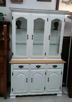 Hutch with Glass Display and Light