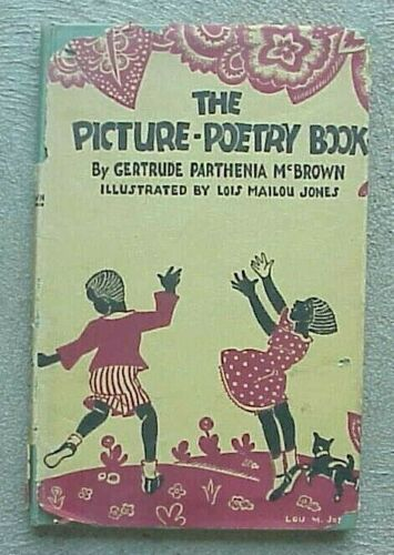 RARE 1946 Book, The Picture-Poetry Book, African American, by Gertrude McBrown