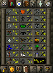 Level 123 Maxed Melee Oldschool Runescape Account