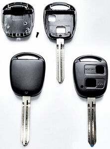 TOYOTA CAMRY CELICA COLORADO RAV 4 PICNIC PRIUS 2 BUTTON REMOTE KEY FOB CASE