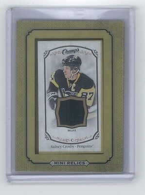 2015 16 Champs Framed Mini Jersey Sidney Crosby 1 5 000 Packs
