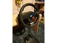 Driving force GT ps3/pc steering wheel- mint condition