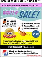 ❉❉❉ Job-Winning Resume, Cover Letter, & LinkedIn Service ❉❉❉