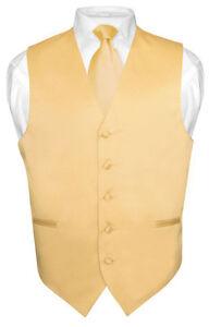 Mens-GOLD-Color-Tie-Dress-Vest-and-NeckTie-Set-for-Suit-or-Tuxedo