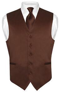 Men's brown suit vest