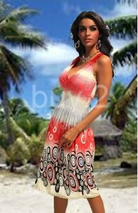 Sommerkleid Strandkleid Party Kleid bunt gemustert Kofferkleid NEW @ buy.2