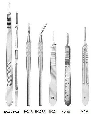 2 Premium Grade Assorted Scalpel Knife Handles Surgical Veterinary Instruments