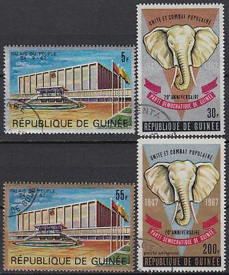 GUINEA GUIN E 1967 USED MI 443 46 TIERE ANIMALS ELEFANT ELEPHANT ST3366