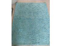 Teal living room rug