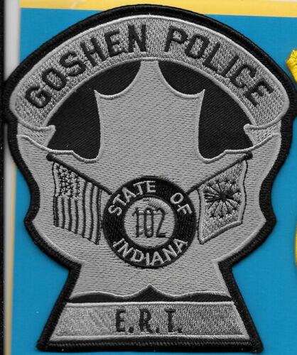 GOSHEN INDIANA POLICE DEPT ERT MAPLE LEAF CROSS FLAGS (FIRE) GRAY BLACK GPD IN