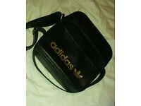 Adidas bag black and gold