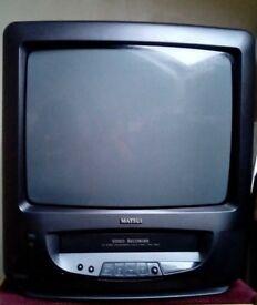 """Matsui 14"""" Portable Television- TVR 180 TV/VHS Combi & Remote"""