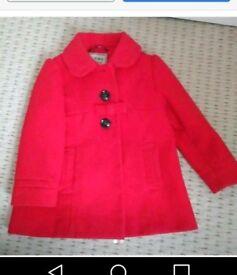 Next girls wool coat 2-3 years