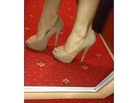 New look nude heels size 6