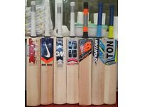CRICKET BAT ALL BRANDS AVAILABLE. ENGLISH WILLOW,SHORT HANDLE, THICK EDGE.,OFF SEASON SALE