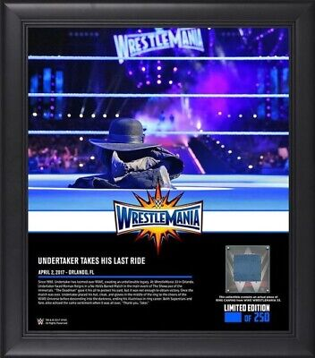 WWE Numbered Undertaker Wrestlemania 33 Framed Plaque Ring Frame WWF XXXIII