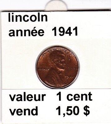e 3)pieces de 1 cent  lincoln  1941