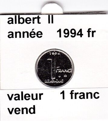 FB 2 )pieces de albert II  1 francs 1994   belgique