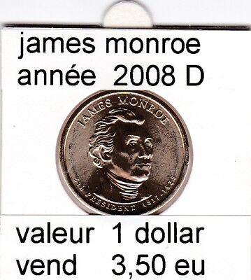 e2 )pieces de 1dollar   2008  D  james monroe