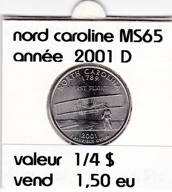 nord caroline   2001 D  voir description