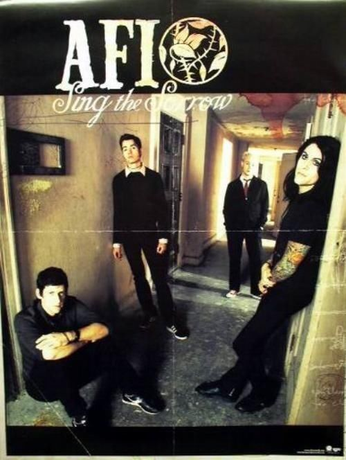 AFI 2003 sing the sorrow group promotional poster Flawless New Old Stock
