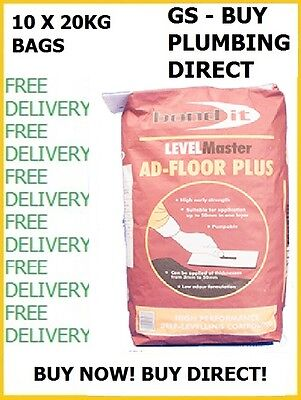 Bond It AD-FLOOR PLUS SELF LEVEL LEVELLING COMPOUND 2-50mm GREY 20KG X 10 BAGS