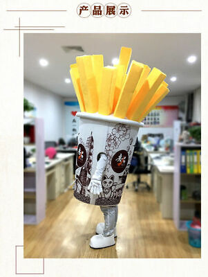 Restaurant Halloween Costumes (Halloween Restaurant French Fries Mascot Costume Cosplay Party Clothing)