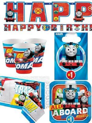 Thomas The Tank Engine theme party decorations and tableware invites cups (Thomas The Tank Engine Plates And Cups)
