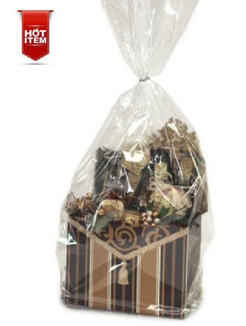 Item#42327 - 10pack Clear Cello/cellophane Bags Gift Basket
