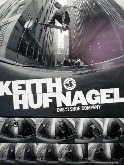 DVS 2003 Keith Hufnagel skateboard promo poster Flawless New Old Stock HUF