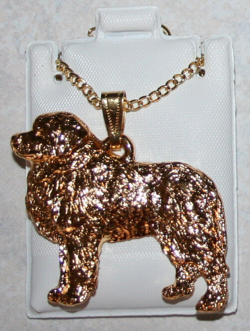 GREAT PYRENEES Dog 24K Gold Plated Pewter Pendant Jewelry Chain Necklace