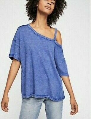 Free People blue Alex t-shirt NWT s