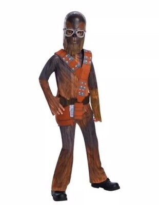 Kid Chewbacca Dress Up Costume Wookie From Solo A Star Wars Story Sz Medium - Boy From Up Costume