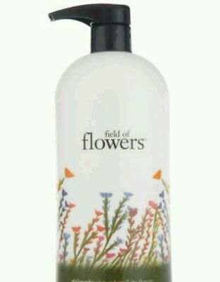 PHILOSOPHY *PERFUMED* FIELD OF FLOWERS BODY LOTION 32 OZ NEW WITH PUMP  16 Oz Perfumed Body Lotion