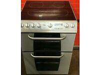 Creda 60 CM ceramic cooker silver