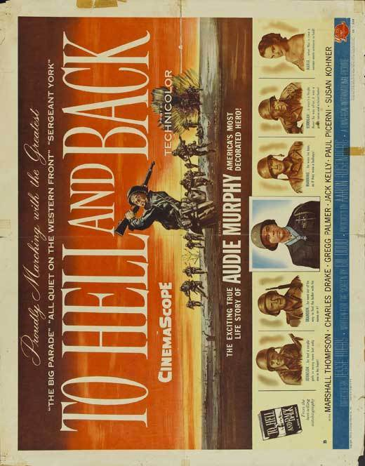 TO HELL AND BACK Movie POSTER 22x28 Half Sheet Audie Murphy Marshall Thompson